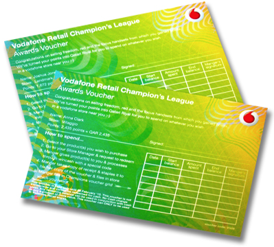 Vodafone Voucher Green & Yellow